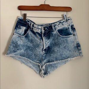 Top Shop Moro Denim Shorts